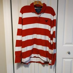 American eagle classic fit eagle Polo rugby shirt